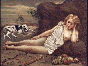 Giorgio-De-Chirico_Diana-addormentata-nel-bosco